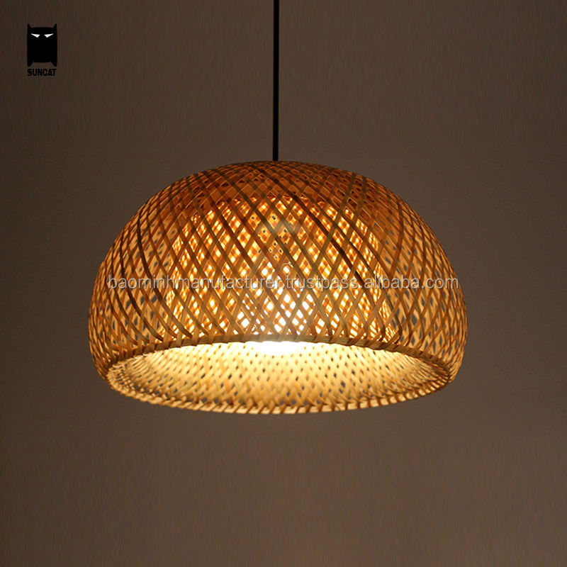 Beautiful Bamboo Wicker Shade Pendant decoration Light