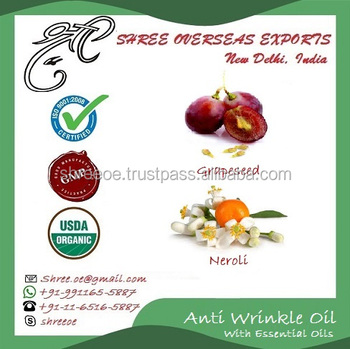 No.1 Supplier of 100% Organic Anti Wrinkle Essential Oil from Shree Overseas Exports India