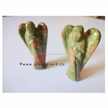 Unakite 2 inch Carving Angel