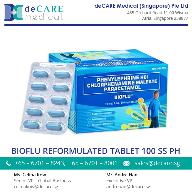 Excellent Quality Flu Relief Bioflu Tablet at Wholesale Price