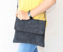 Real Suede Leather Black colour Satchel Shoulder and Sling Bags