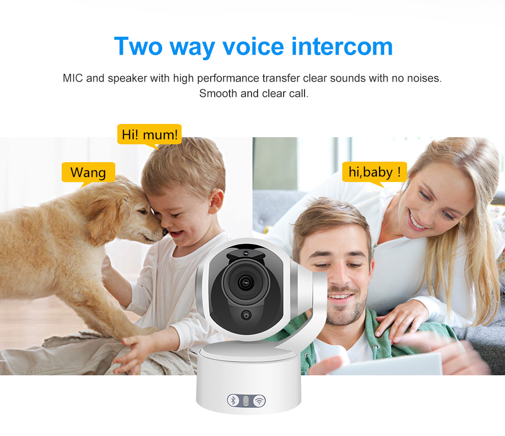 Meisort K5 Bluetooth Wireless IP Camera 1080P HD Wifi Camera