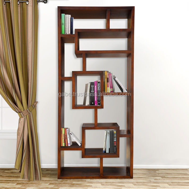 Display rack book YOKOHAMA melamic natural teak wood furniture