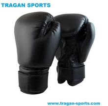 OEM custom printed logo leather boxing gloves