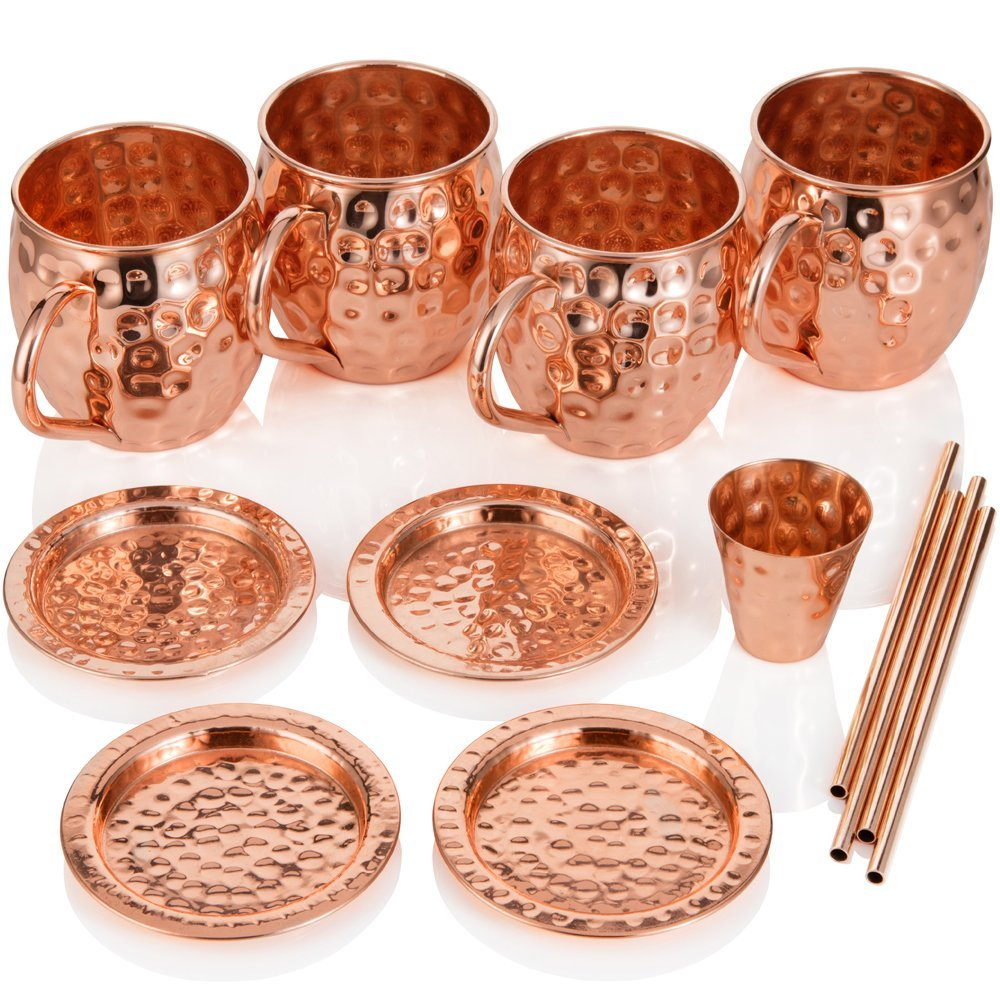 Pure Copper Moscow Mule Mug Hammered