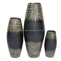 Vietnamese handicraft lacquer bamboo vase home decor