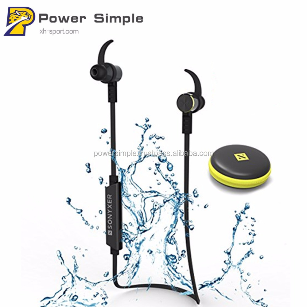 Sonyxer V4.0 Neckband Waterproof Sport Earphone Stereo Wireless Swimming Waterproof Bluetooth Earphone for iPhone X Samsung