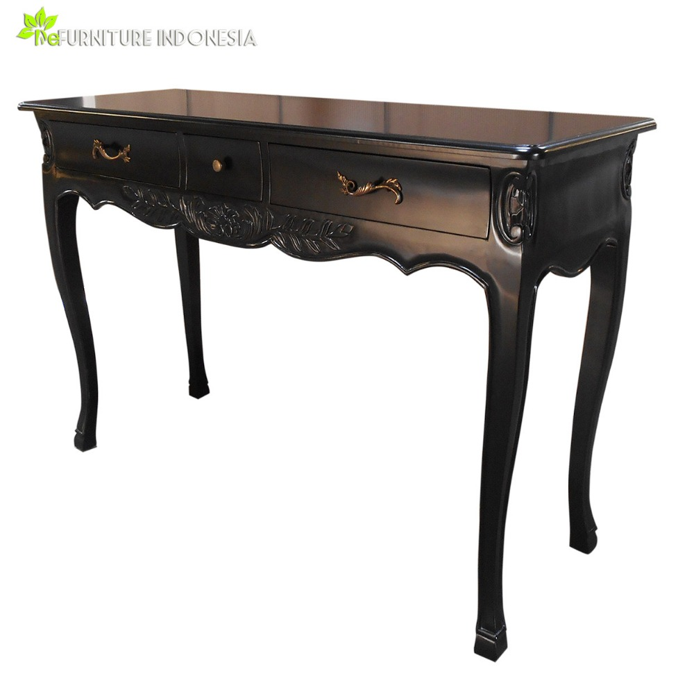 black Hall console table living room furniture mahogany wood console table modern