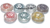 Crystal Quartz Engraved Chakra Set Color Disc Set With Pouch