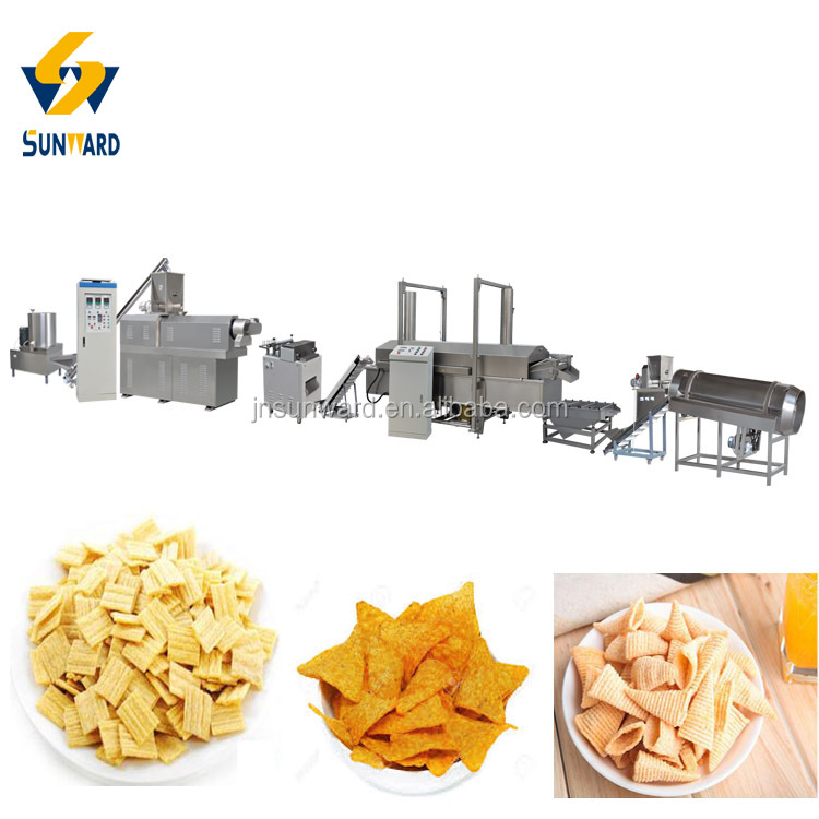 Automated Industrial Fried Snack Manufacturing Machine Line Equipment Plant