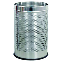 Stainless Steel Perforated Open Dustbin