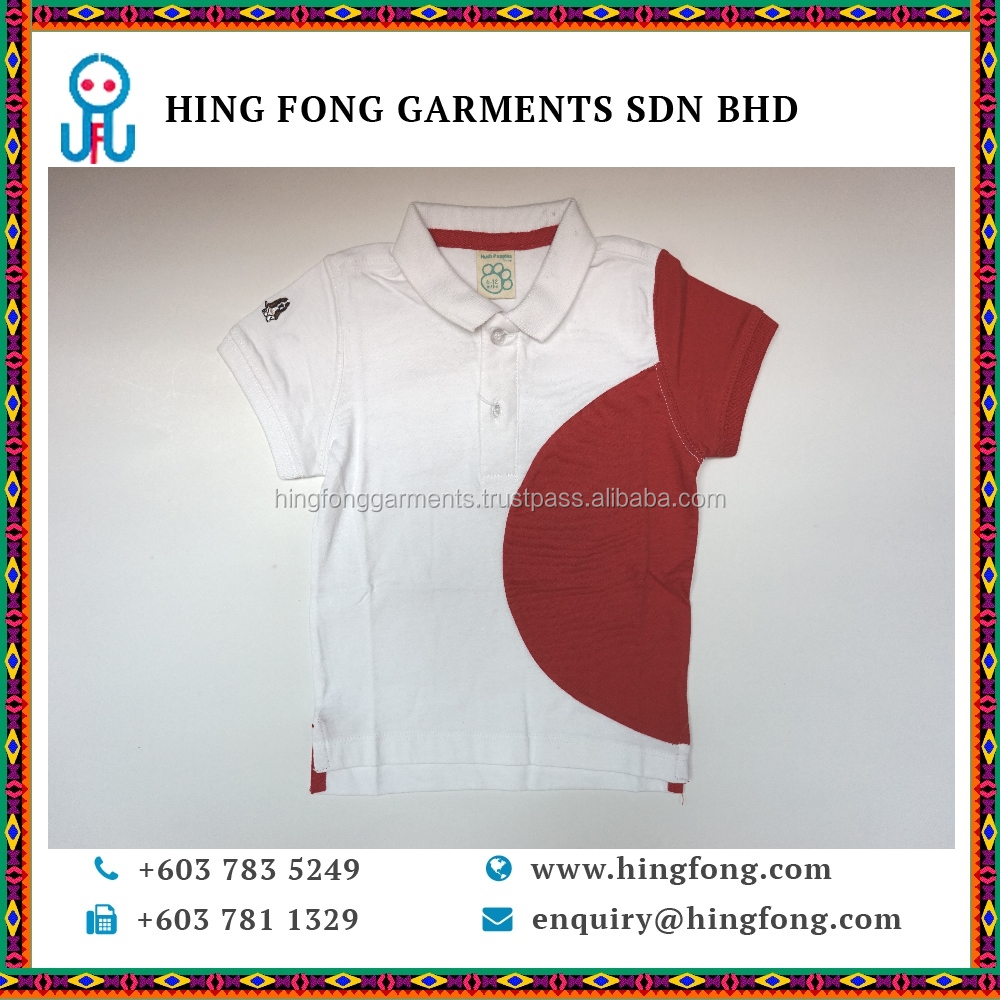 High Quality new style fashion boy's shirt Comfortable Baby Shirt for kid in White and Red