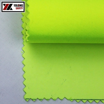 Wholesale Poly/Cotton Hi Vis Reflective Fluorescent Yellow Fabrics For Workwear