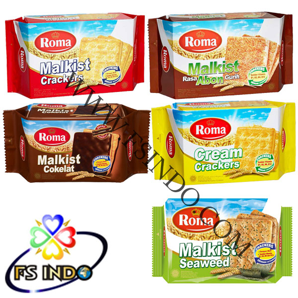 Indonesia Roma Malkist 135gr x 30 Biscuits Crackers Shelf Life 18 months
