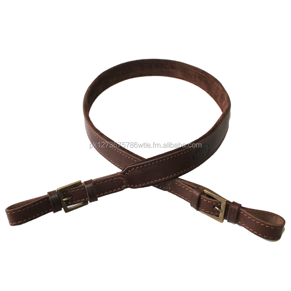 Hunting Shooting Adjustable Leather gun Sling