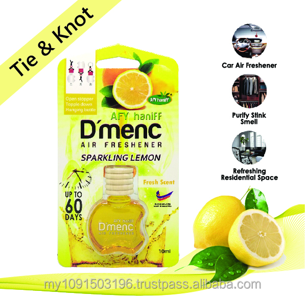 AFY Haniff D'menc Hanging Car Air Freshener Sparkling Lemon 10ml Fresh Scent
