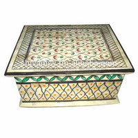 Exclusive Indian Wooden Handicraft Handmade Wooden Jewellery Box For Home Office Gift