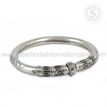 Emphatical 925 sterling silver plain bangle indian silver jewelry 925 silver bangle wholesaler from india