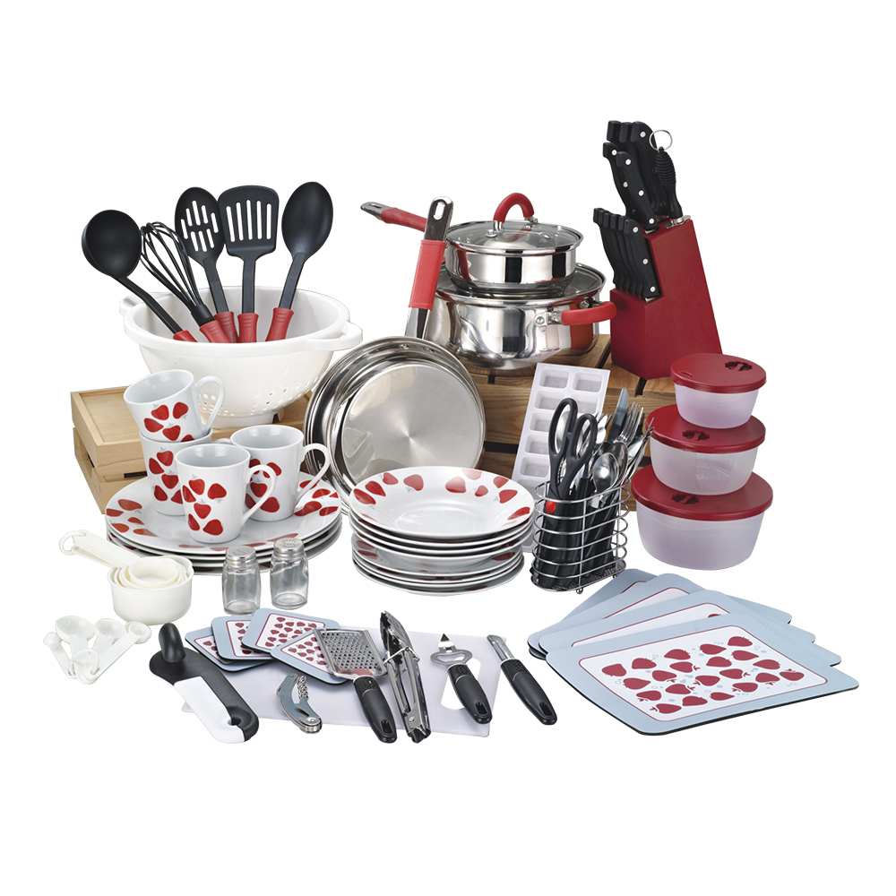 90 Pcs High End Cookware Set Home Starter Set With Cooking Pots And Kitchen Utensils Buy Stainless Steel Cookware Pot Set Happy Home Cookware