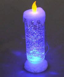 Prastara Glitter Led Candle Looks Original Flickering Candle Light Auto Rotate Water Pool ( Christmas and Birthday Celebration o