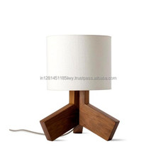 Wooden Table Lamps, Antique Table Lamps, White Fabric Table Lamps