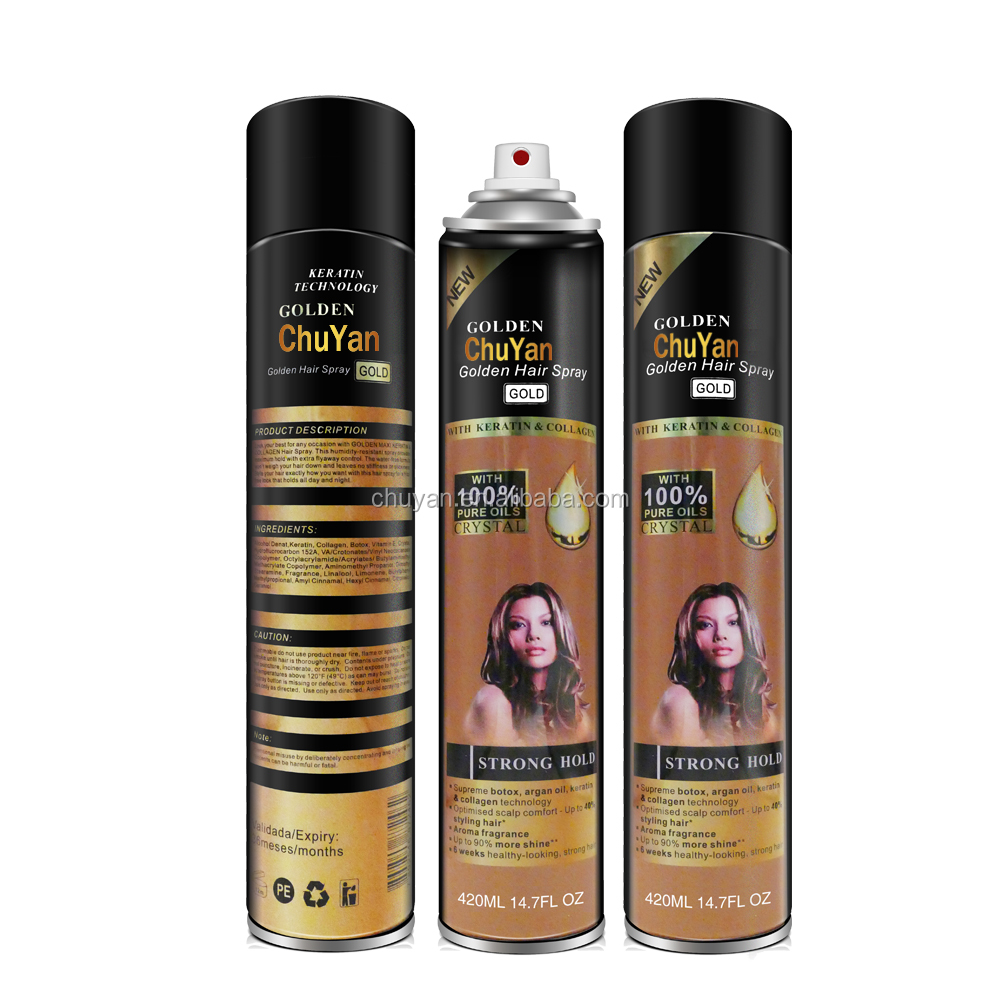 factory price private label hair spray hair styling products 420ml