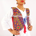 Banjara Style Navratri mirror jacket Koti- Colorful embroidery work elephant design koti- Navratri festival wear jacket koti