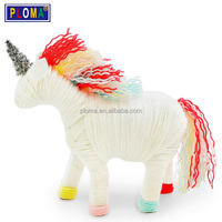 Children Yarn Animal Unicorn DIY crafts