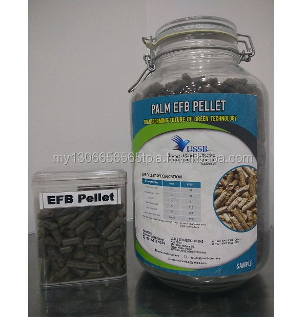 Biomass EFB Pellet for Industrial Boiler / Power plant / High Feed in Tariff