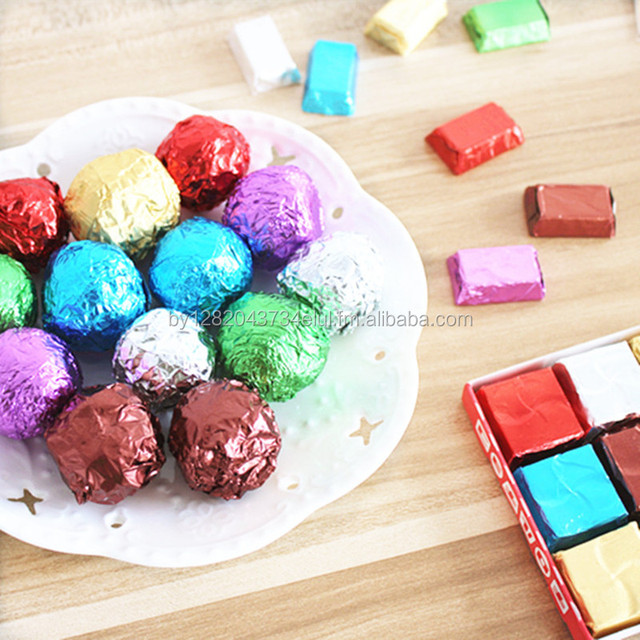 Polymiz Chocolate Wrapping Paper Aluminum Foil Paper For Candy / Chocolate Ball