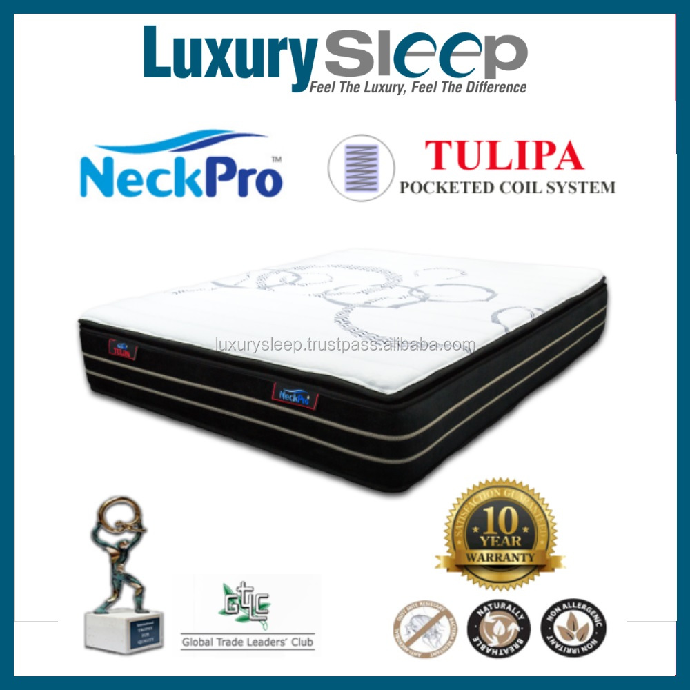 NeckPro Tulipa Queen Size Pocketed Coil Spring Mattress