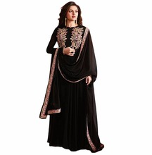 Party Wear Dress Material / Latest Semi Stitched Dubai Style Dresses 2017 / Ocassion Wear Ankle Length Gown(anarkali dresses)