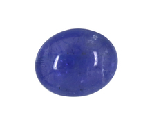 superb quality oval shape cabochon natural tanzanite gemstone