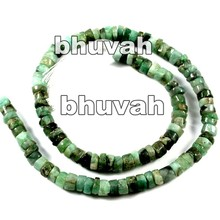 Healing Energy Stone Beads Strand Emerald Tyre Shape Gemstone Micro Facet 3-4mm