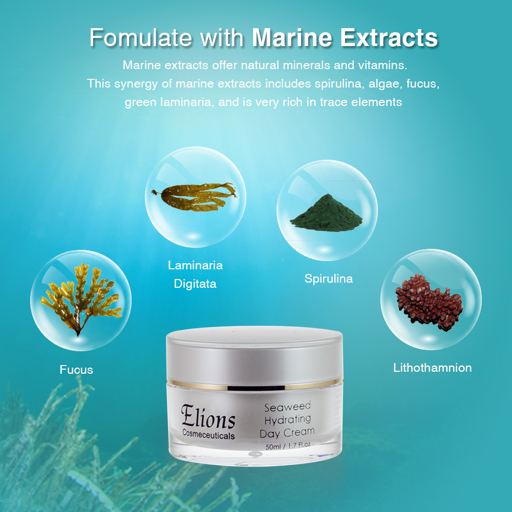 Refreshing seaweed extract moisturizing day cream
