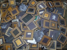 Ceramic 286/386/486 CPU processors scrap for gold recovery