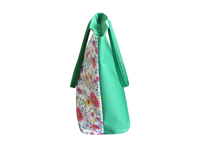 Digital printed green color beach bag
