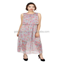 "elegant/ beautiful sleeveless Dress in ""Summer dress"" Women Chiffon wedding Dress Casual woman dress"