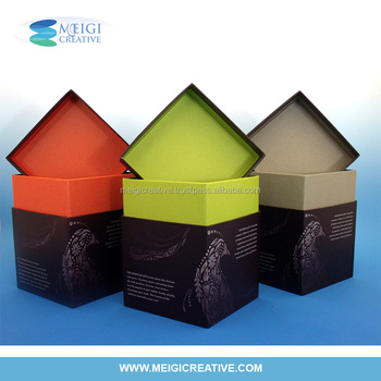Two-Tone Chipboard Box, High end gift box packaging