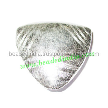 Silver Plated Brushed Beads, size: 35x35x11mm, weight: 11.41 grams. BMSPBR008
