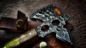 Damascus Steel Hand made Tomahawk Axe With Exotic And Walnut Handle SK-281