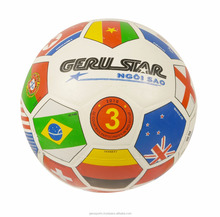 Hot spring football 2017 - National Flag rubber Soccer Ball size 3 Geru Sport - Custom sport logo