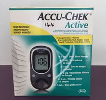 Accu-Check Device for reading Accucheck strips to measure the sugar in the blood