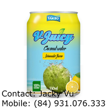Wholesale Coconut Water added fruit juice 330ml Canned - Tan Do Beverage OEM