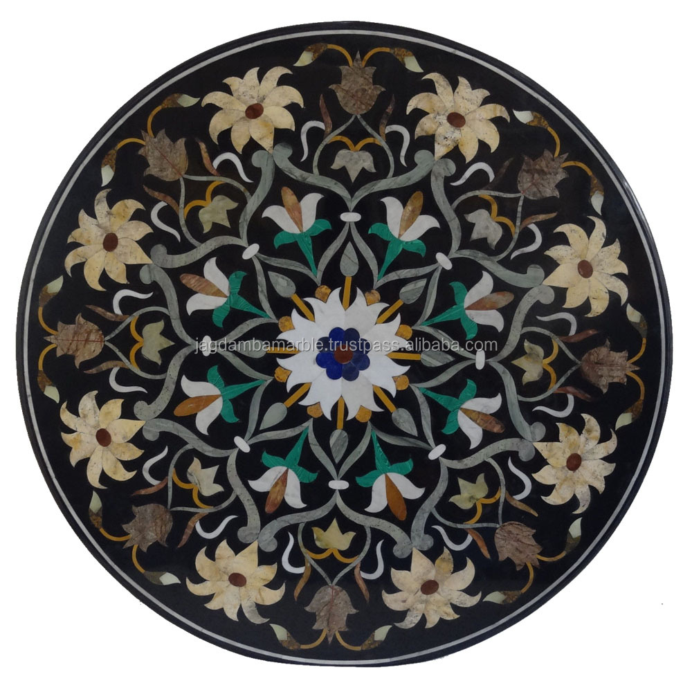Stone Table Tops Marble Inlay Handicraft