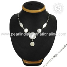 925 sterling silver necklace fresh white mother of pearl jewelry wholesale indian 925 silver jewelry supplier