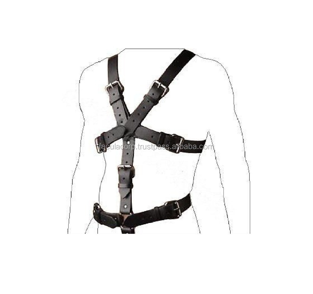Mans GENUINE LEATHER FULL BODY HARNESS GAY INTEREST FC-761