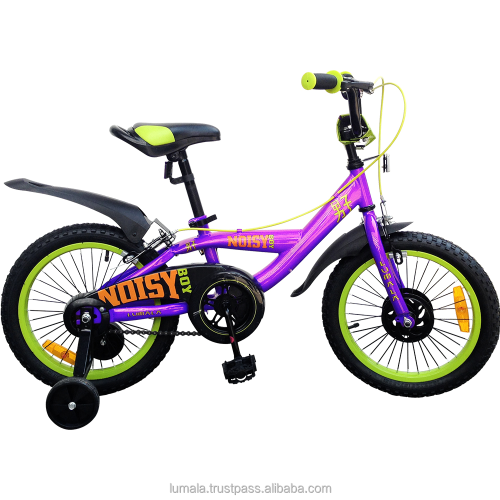 "12""/16"" Childrens BMX Bicycle with Training Wheels and front Bucket Lumala Noisy Boy"
