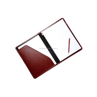 Padfolio portfolio with writing pad portfolio bag pocket / Executive business pure leather padfolio portfolio