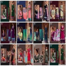 Kimora Heer -28 Pure Cotton Satin Embroidery Work Un-Stitched Straight Pattern Salwar Suit kameez For Women Indian & Pakistani